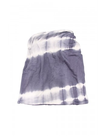 Tie Dye 2-Way Face/Head Cover Denim White