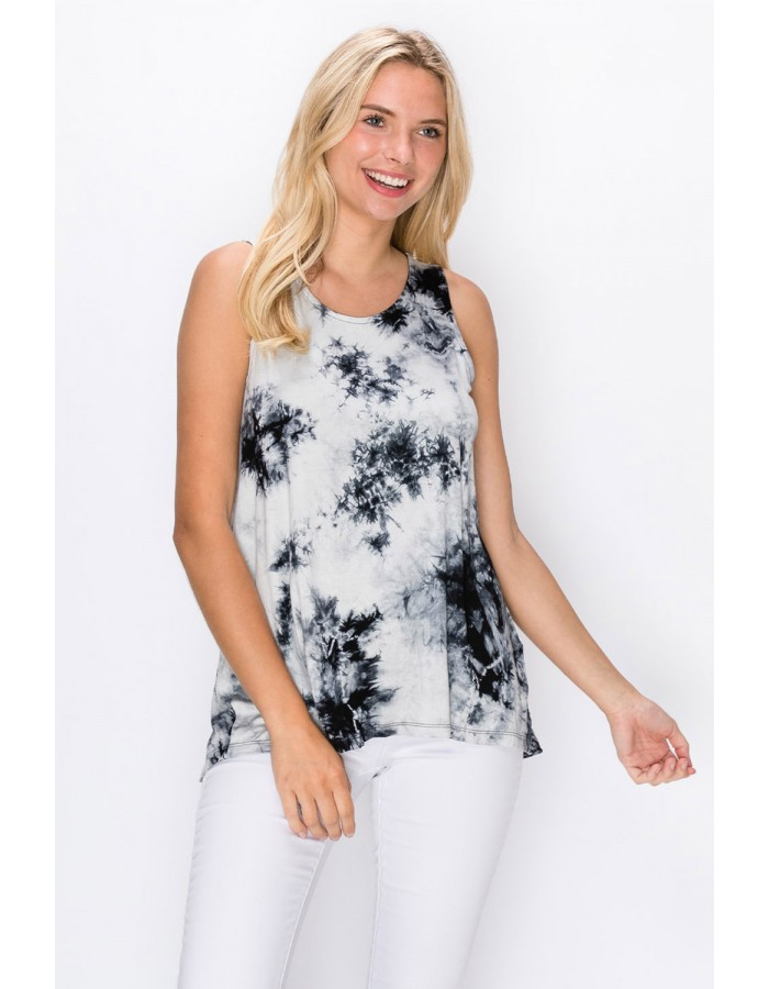 Tie Dye Button Back Tank