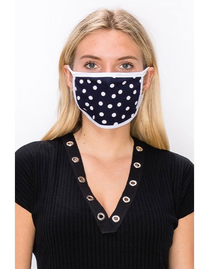 Polka Dot Mask Navy
