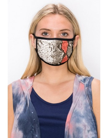 Grey Red Python Mask