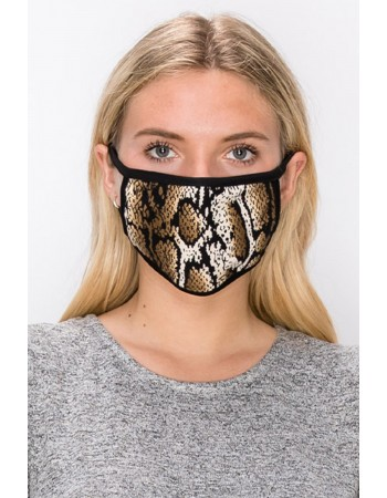 Brown Black Python Mask