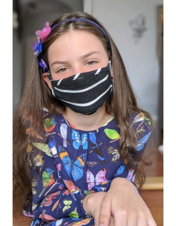 KIDS BASIC STRIPE MASK - BLACK