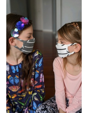 3 COLOR PACK Kids Basic Stripe Mask