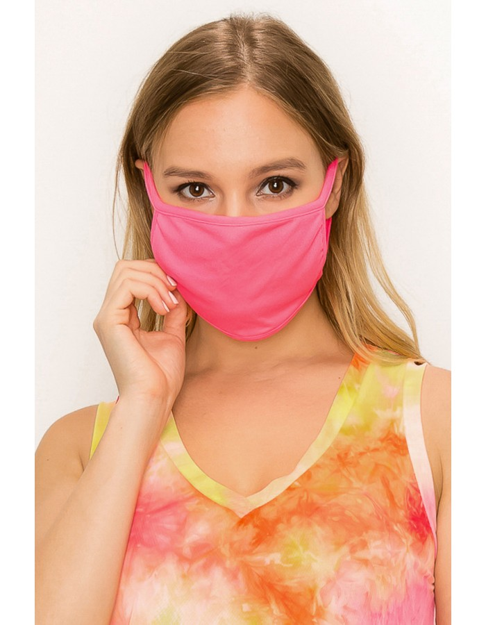 Neon Jersey Mask Hot Pink