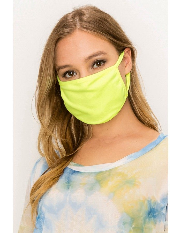 Neon Jersey Mask Lemon