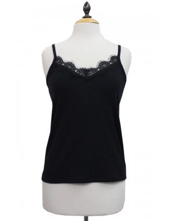 Rib Lace Edge Cami