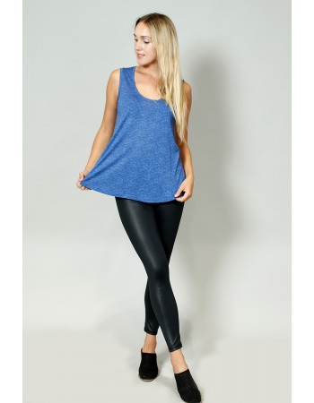 Sand Wash Slub Jersey Scoop Neck Tank