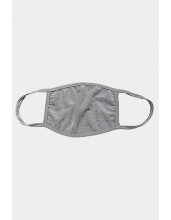 Chambray Jersey Mask - Heather Grey