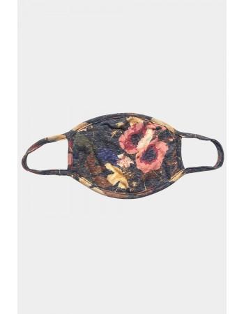 4 Pc Pack - Sand Wash Slub Jersey & Floral Mask