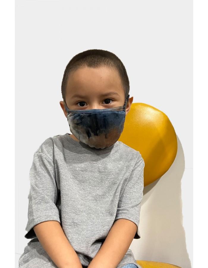 Kids Tie Dye Mask - Taupe Multi