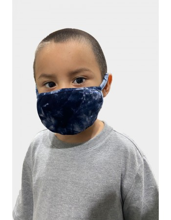 Kids Tie Dye Mask - Blue Multi