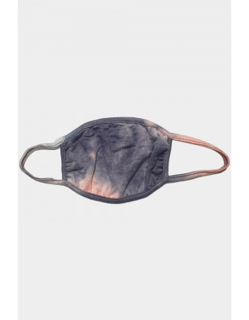 Kids Tie Dye Mask - Grey Peach