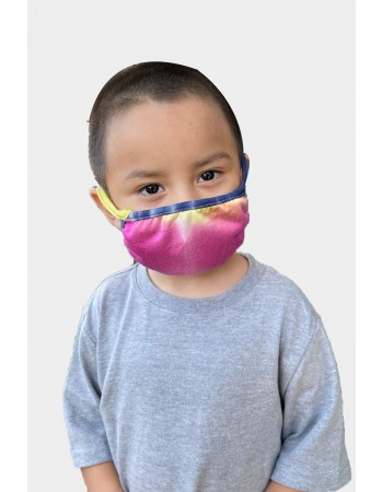 Kids 2 Pc Pack - Tie Dye Rainbow Multi Mask