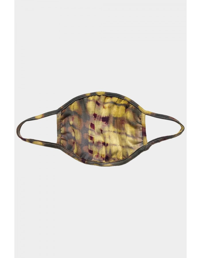 Tie Dye Mask Eggplant/ Olive/ Grey