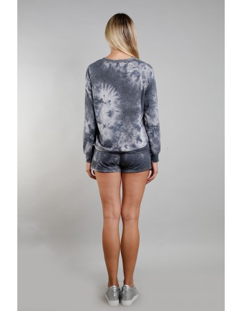 Tie dye French Terry Sweatshirt - Grey Multi