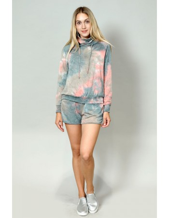 Multi Function Tie Dye French Terry Hoodie