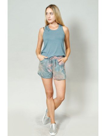 Tie Dye French Terry Pocket Shorts
