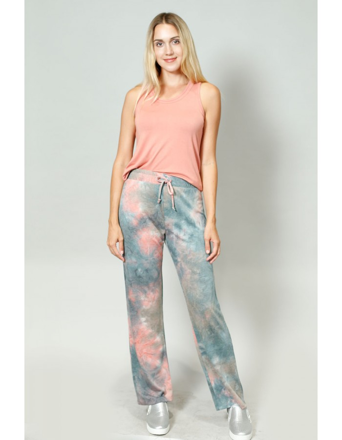 Tie Dye French Terry Pull On Pants