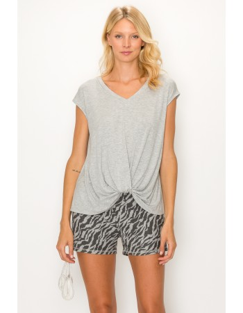 Zebra French Terry Basic Shorts