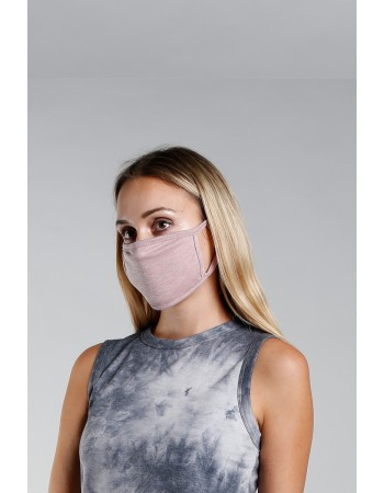 Chambray Jersey Mask - Mauve