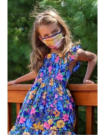 Kids 2 Pc Pack - Tie Dye Rainbow Mask