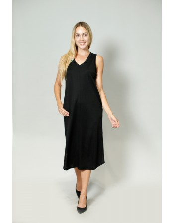 V NECK POCKET DRESS