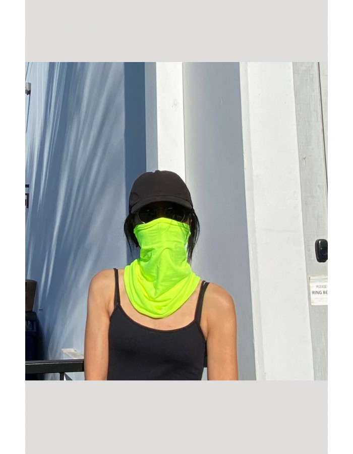 Neon Gaiter Face Cover - Lime