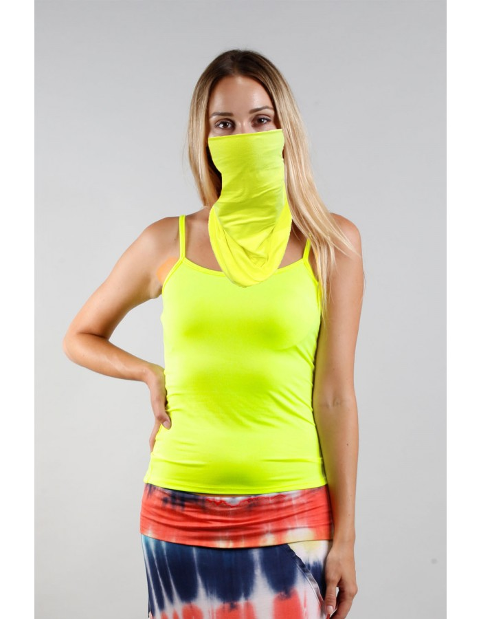 Neon Gaiter Face Cover - LEMON