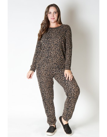 Animal Print Cozy Sweatshirt Curve