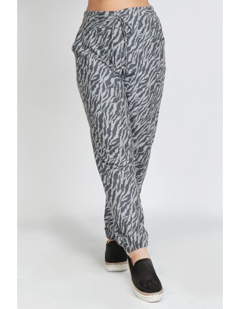 Zebra Print French Terry Jogger Curve