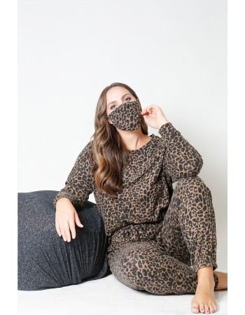 Animal Print Cozy Jogger Curve