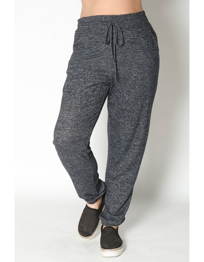 Cozy Knit Jogger Curve - Charcoal