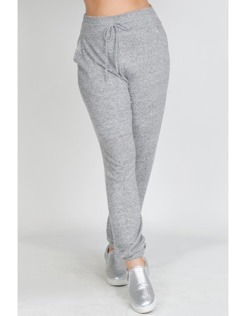 Cozy Knit Jogger Curve - H.grey