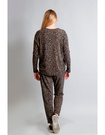 Animal Print Cozy V-Neck Dolman