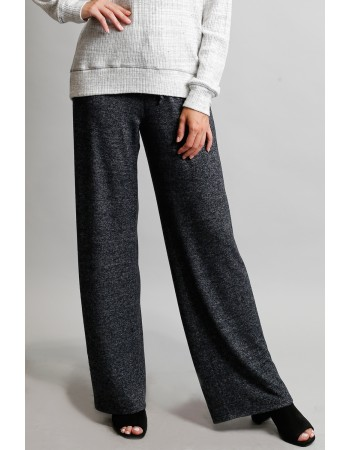 Cozy Pocket Pull On Pants - Charcoal