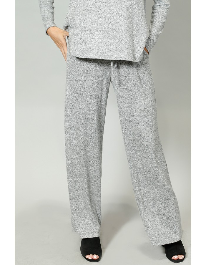 Cozy Pocket Pull On Pants - HGrey
