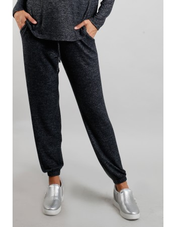 Cozy Knit Jogger - Charcoal