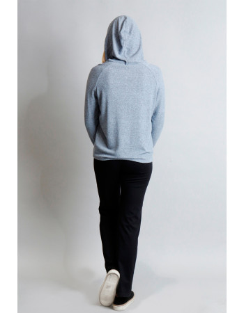 Cozy Knit Hoodie - Chambray