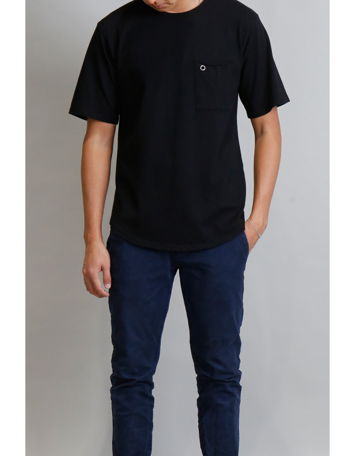 Premium Cotton Curved Hem Tee