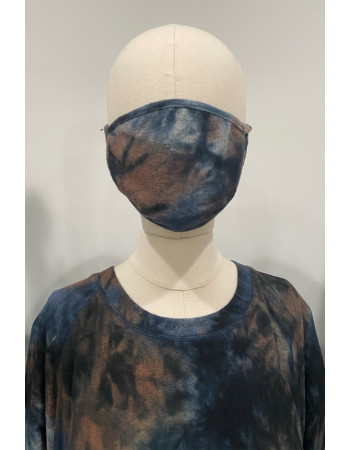 Tie Dye Cozy Mask -  Taupe Multi