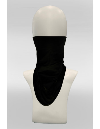 Brushed Jersey Face Cover -  BLACK