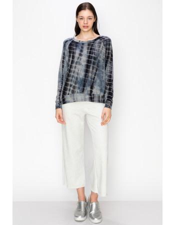 Tie Dye Cozy Sweatshirt - H.GREY / INDIGO / GREY