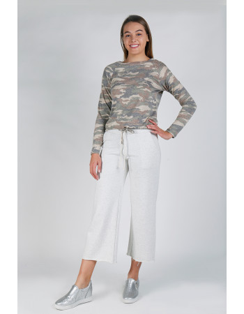 CAMO Q-BLEND LONG SLEEVE CINCH WAIST