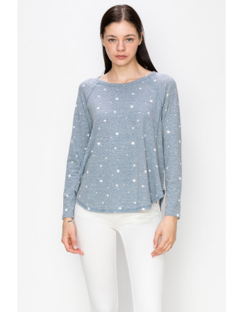 STAR Q-BLEND STITCHED LONG SLEEVE - DENIM