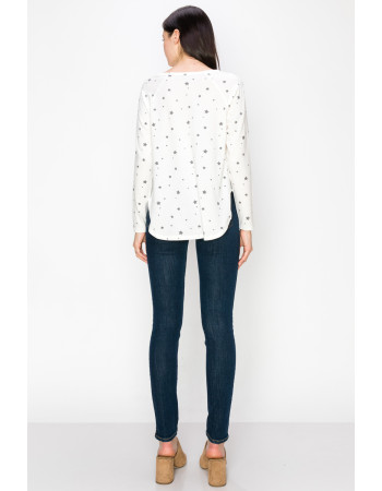 STAR Q-BLEND STITCHED LONG SLEEVE - IVORY