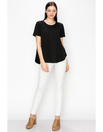 FRENCH TERRY SWING TEE - BLACK