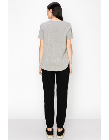 FRENCH TERRY SWING TEE - H.GREY