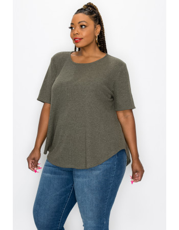 THERMAL SWING TEE CURVE - OLIVE