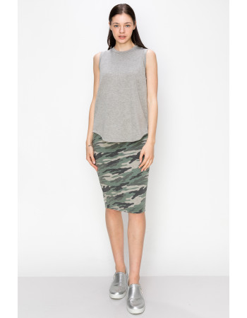 FRENCH TERRY SIDE SLIT TANK - H.GREY