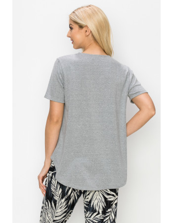 SOLID Q-BLEND SWING TEE - H.GREY